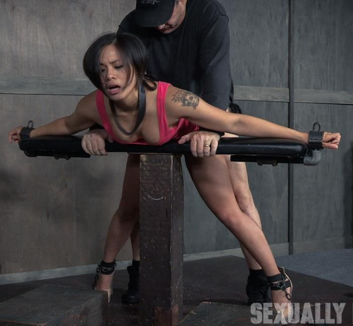SexuallyBroken: Milcah Halili, Dee Williams - Sexy Asian Milcah Halili is bound and brutally face fucked, fucked from both ends, squirting orgasm!  [HD 720p]  (BDSM)
