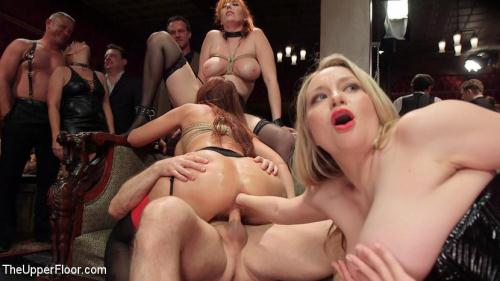 Th3Upp3rFl00r.com [Syren de Mer, Eliza Jane, Aiden Starr, Lauren Phillips, Quinn - The Fantastic Fucking Folsom Orgy Pt. 2] SD, 540p