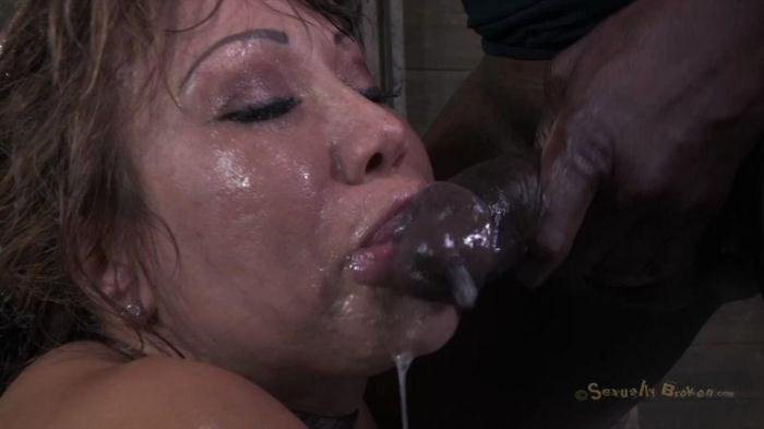 SexuallyBroken.com - Mega MILF and her monster tits and epic ass, suffer brutally deep throating an rough ANAL fucking! (BDSM, Bondage) [HD, 720p]