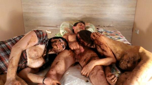 Scat Pigs Filthy Trio Complete Version Part 8 - Group Scat Porn (FullHD 1080p)
