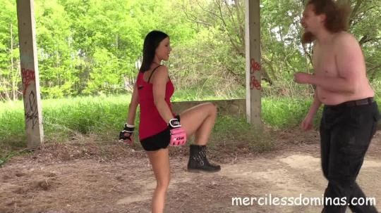 MercilessDominas, Clips4sale: The Abandoned Airbase - Punching Bag For Lady G (HD/720p/522 MB) 14.11.2016