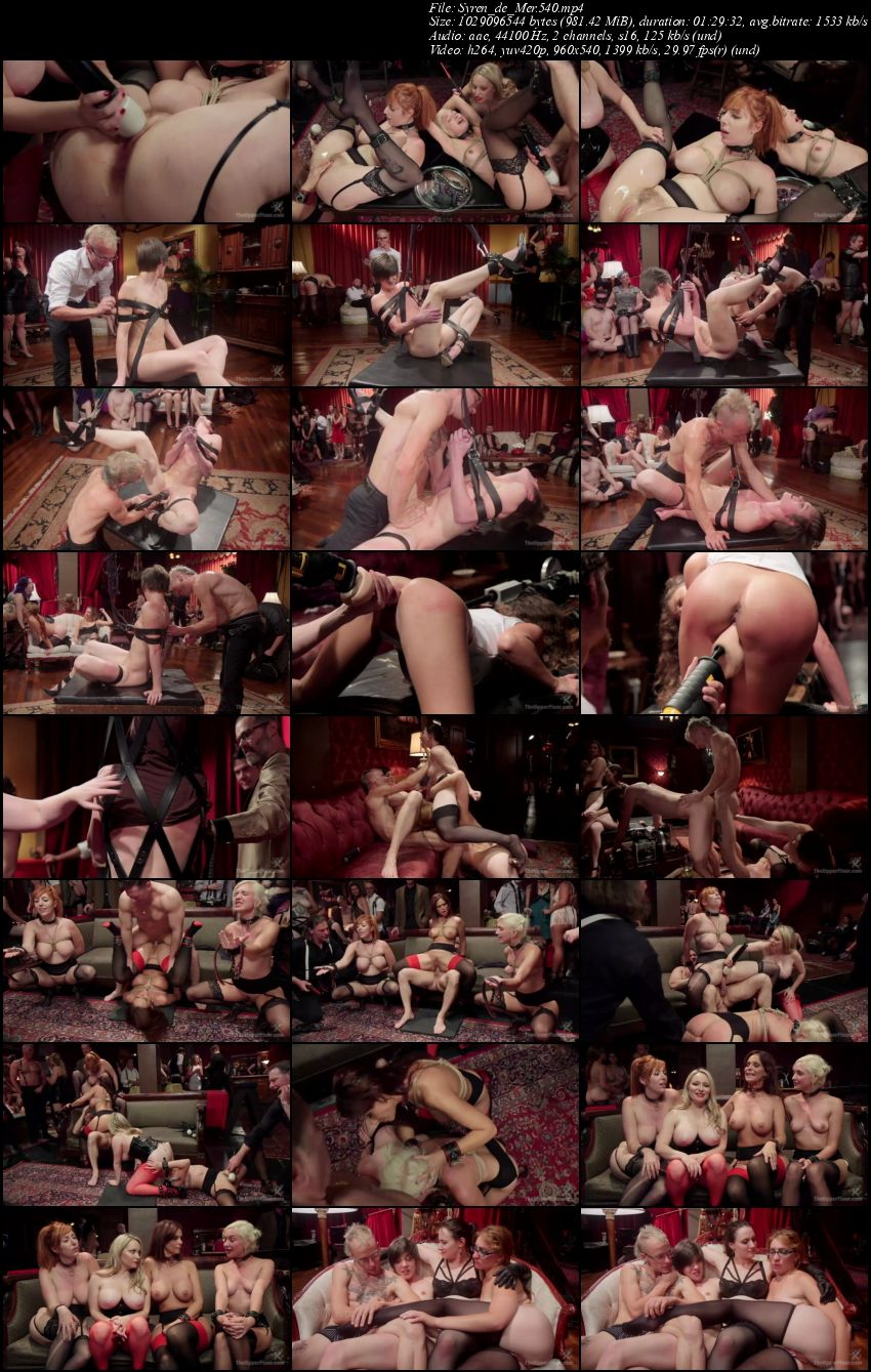Syren de Mer, Eliza Jane , Aiden Starr, Lauren Phillips - The Fantastic Fucking Folsom Orgy Pt. 2  (2016/TheupperFloor/Kink/SD/540p)