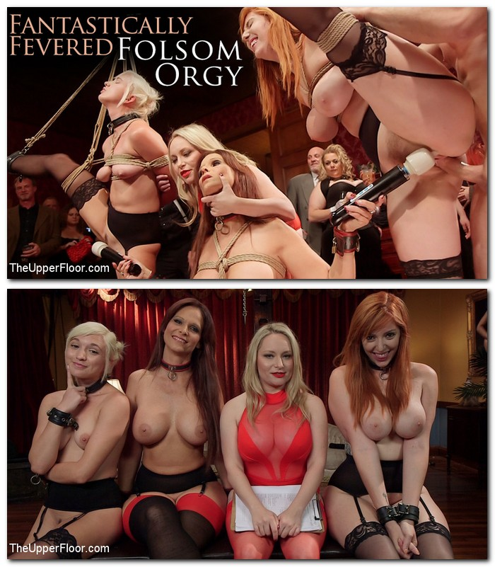 TheupperFloor/Kink - Syren de Mer, Eliza Jane, Aiden Starr, Lauren Phillips [Fantastically Fevered Folsom Orgy] (SD 540p)