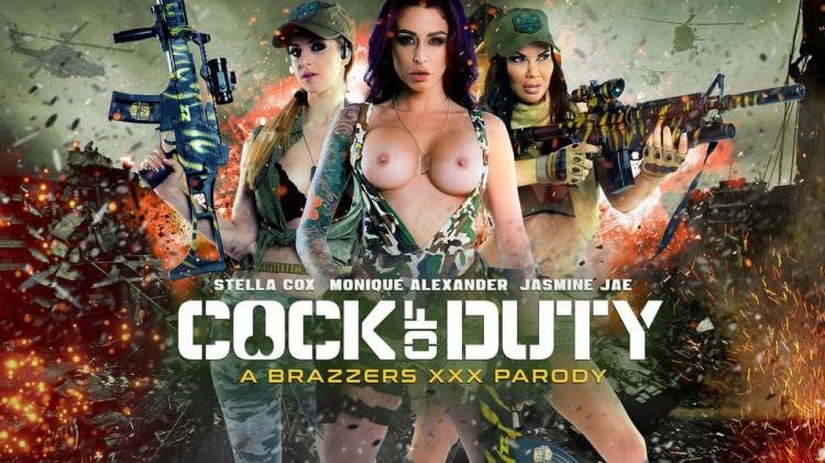 Cock Of Duty / Jasmine Jae, Monique Alexander, Stella Cox / 03.11.2016 [Brazzers / SD]