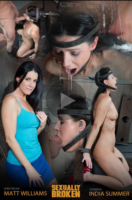 SexuallyBroken: India Summer, Matt Williams, Sergeant Miles - India Summer: The ultimate Milf is bound on the worlds only face fucking machine and on a sybian! (HD/2016)