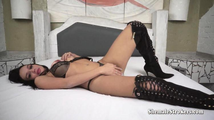 Ryane Lenox - Smokin Brazilian Trans Girl Wants To Get Sticky With You ! / 25 Nov 2016 [SheMaleStrokers / FullHD]