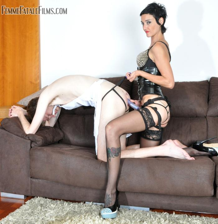 FemmeFataleFilms: Lady Sara Volts - Drilling The Domestic  [HD 720p]  (Femdom)