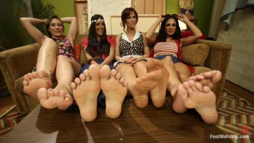 FootWorship.com / Kink.com [Kirsten Price, Syren de Mer, Sinn Sage, Lyla Storm - Step Mom Foot Fuck] HD, 720p