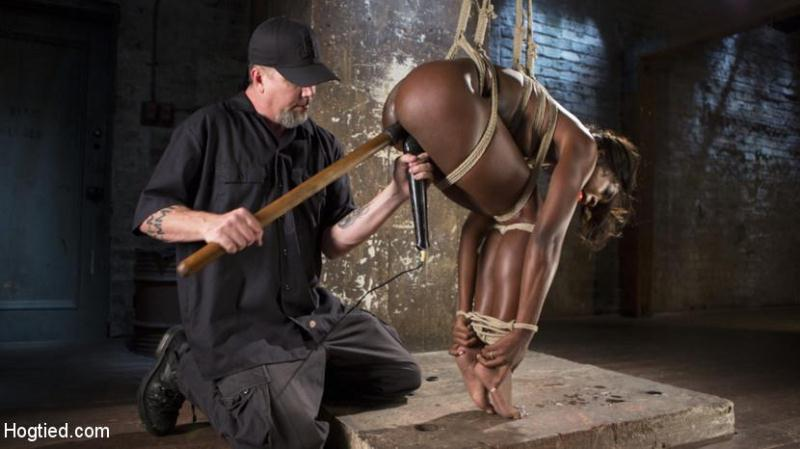 H0gT13d.com / Kink.com: Ana Foxxx - Stunning Ebony Slut in Brutal Bondage and Tormented [HD] (1.71 GB)