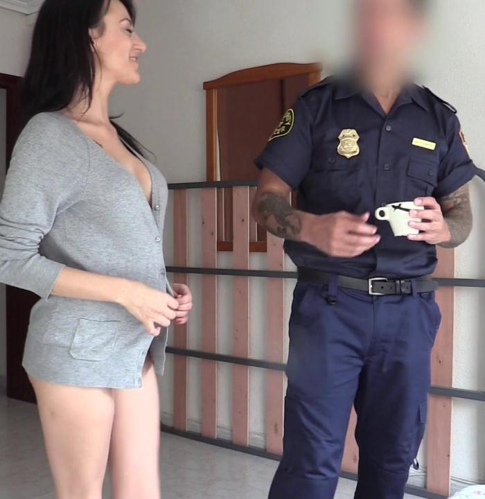 FakeCop: Sara Ray - Bootyful Spaniard Rides Cops Cock  [FullHD 1080p]  (Public)