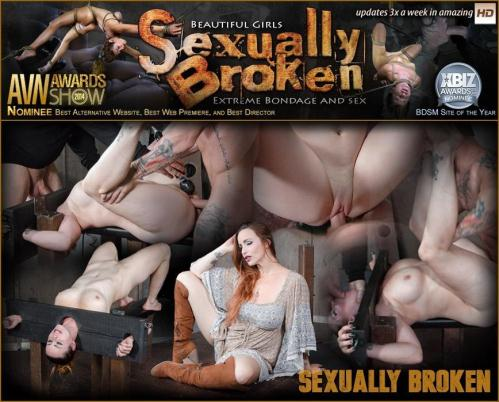 SexuallyBroken.com [Bella Rossi bound in stocks, brutally face fucked upside down and roughly fucked to orgasms!] SD, 540p