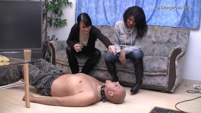 (Femdom / WMV) Shayla and Chantal - Boot Worship Dangerous-girls - HD 720p