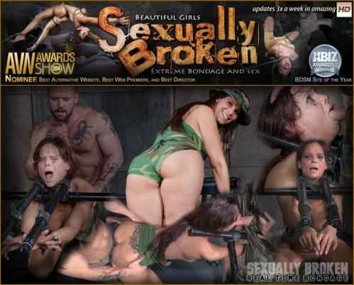 SexuallyBroken.com/RealTimeBondage.com [Syren De Mer live BaRS Part 2: The fucking begins, Syren is in over her head / Syren De Mer, Matt Williams, Sergeant Miles] HD, 720p