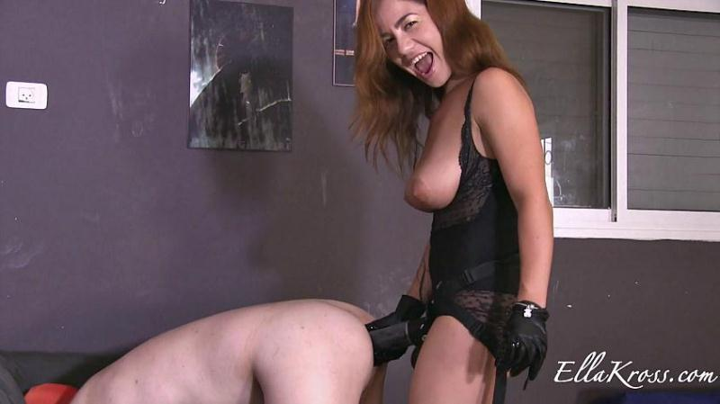 (Femdom / MP4) World's Biggest Strap-On in Poor Slave's Ass! EllaKross.com - FullHD 1080p