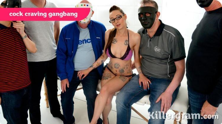 Demona Dragon - Cock Raving Gangbang / 02.11.2016 [KillerGram / SD]