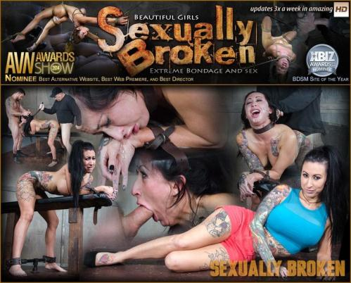 SexuallyBroken.com [Alt model Lily Lane is completely wrecked by huge cock, bound, helpless made to cum over and over!] SD, 540p