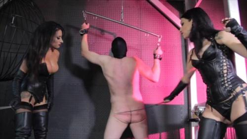 Clips4sale.com [Cybill Troy and Mistress Tangent - No Escape Caning] HD, 720p