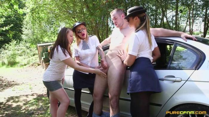 Chantelle Fox, Crystal Coxx And Ruby Ryder - Police Frisking (PureCFNM) FullHD 1080p