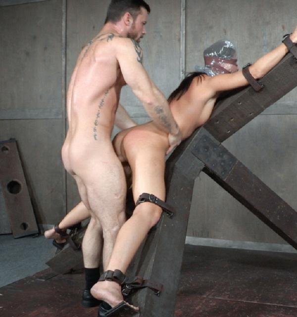 India Summer - Hot MILF India Summers is strapped to and X frame, hooded, gagged, and brutally fucked!   (SexuallyBroken/HD/720p/487 MiB) from Rapidgator