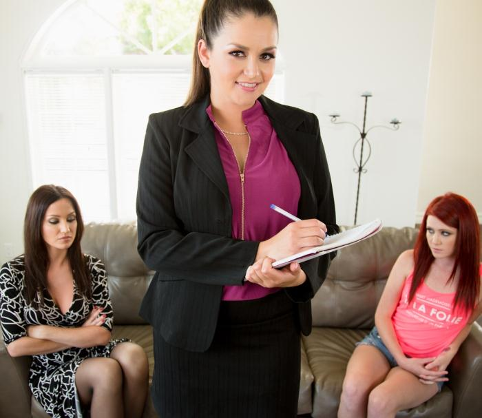 MommysGirl/GirlsWay: Elle Alexandra, Allie Haze, Angela Sommers - The Family Therapist  [HD 720p]  (Lesbians)