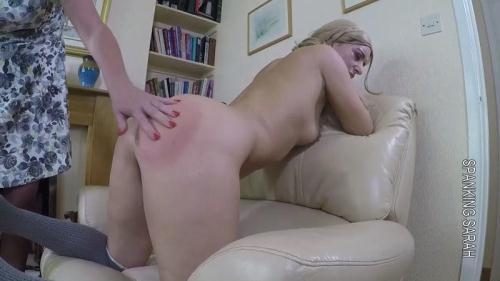 SpankingSarah.com [Jasmine - Masturbator caned] HD, 720p