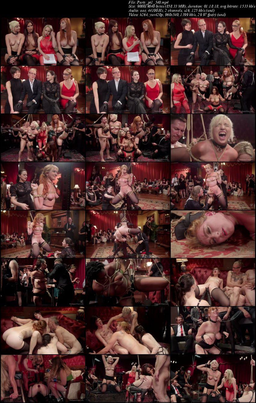 Syren de Mer, Eliza Jane, Aiden Starr, Lauren Phillips - Fantastically Fevered Folsom Orgy  (2016/TheupperFloor/Kink/SD/540p)