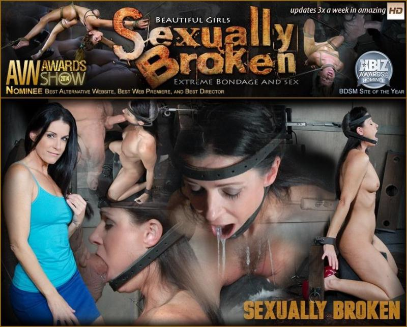 SexuallyBroken.com: The ultimate MILF is bound on the world's only face fucking machine and on a sybian! [SD] (112 MB)