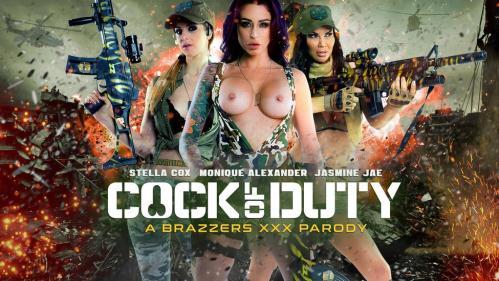 P0rnSt4rsL1k31tB1g.com [Jasmine Jae & Monique Alexander & Stella Cox - Cock Of Duty: A XXX Parody] SD, 480p