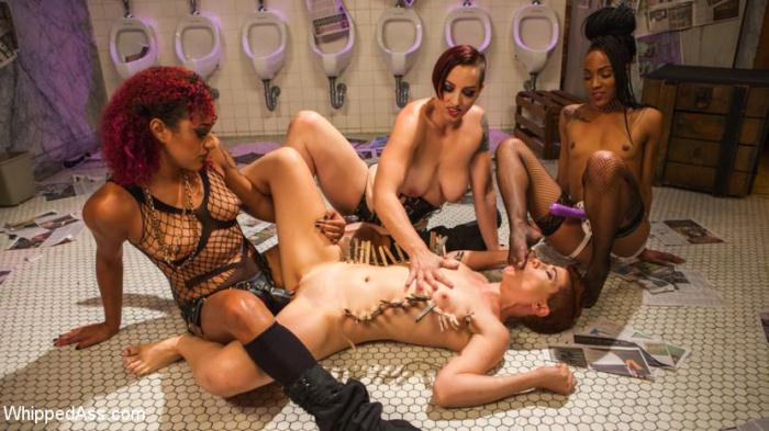 Ingrid Mouth, Daisy Ducati, Mistress Kara, Nikki Darling - Dyke Bar 5: New girl spanked, flogged, and strap-on DP\'d! (Wh1pp3d4ss, Kink) HD 720p