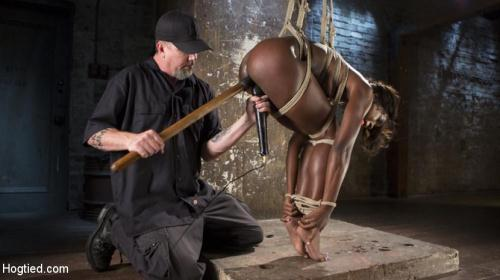 H0gT13d.com / Kink.com [Ana Foxxx - Stunning Ebony Slut in Brutal Bondage and Tormented] HD, 720p