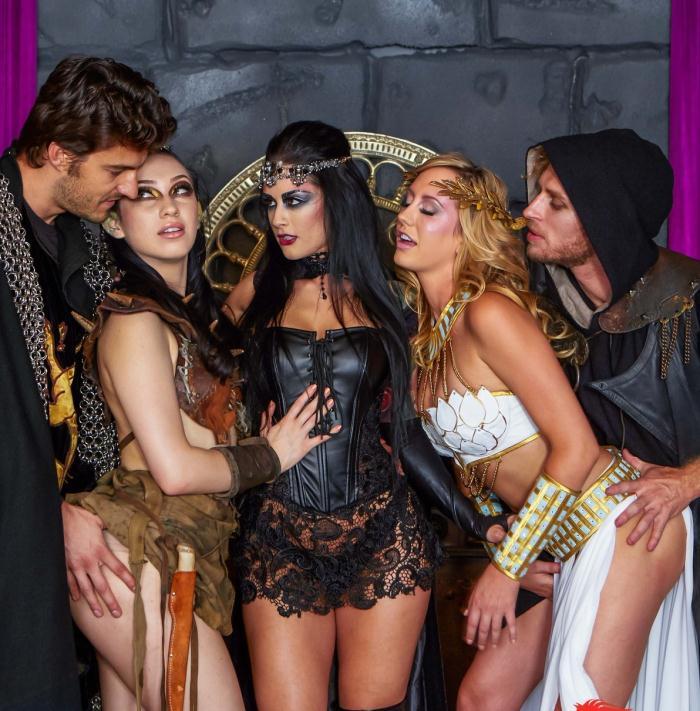 DigitalPlayGround: Aria Alexander, Brett Rossi, Katrina Jade - Quest: Scene 5  [HD 720p]  (Threesome)