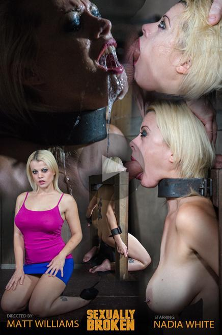 SexuallyBroken.com: Nadia White is severely bound in metal, completely helpless on a sybian. Brutal throat boarding! [HD] (593 MB)