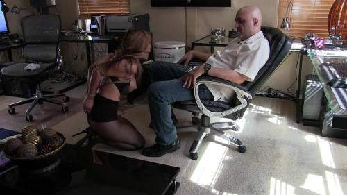 AsianaStarr.com [AsianaStarr Bondage Blowjob In The Office Part 2] FullHD, 1080p