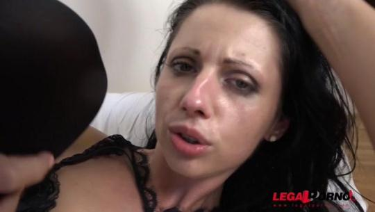 LegalPorno: July Sun discovers the black feeling again. Kinky 4on1 DAP and DP IV015 (SD/480p/1.14 GB) 25.11.2016