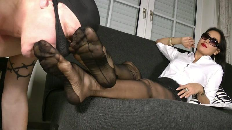 Clips4sale.com: Goddess Leyla - Black Nylons Foot Worship [FullHD] (323 MB)