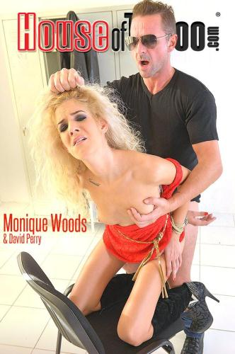 H0us30fT4b00.com / DDFN3tw0rk.com [Monique Woods - The Locker Rocker - Bound Submissive Blonde Ass Fucked] SD, 360p