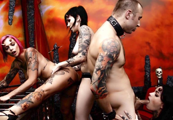 BurningAngel: Nikki Hearts, Anna Bell Peaks, Leigh Raven - Cindy Queen of Hell Part 4  [HD 720p]  (Threesome)