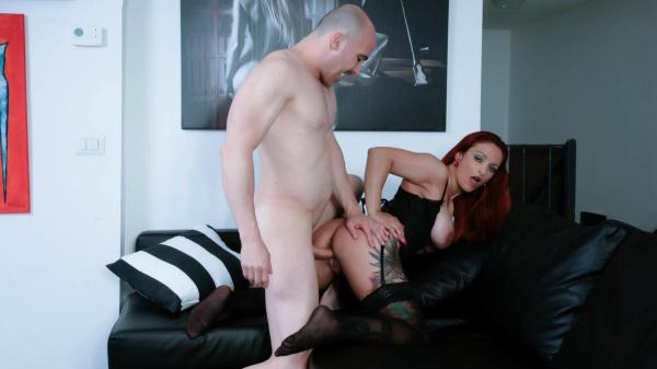 Mary Rider - Tattooed mature Italian amateur gets facial after hot pussy and ass fuck [SD 480p]