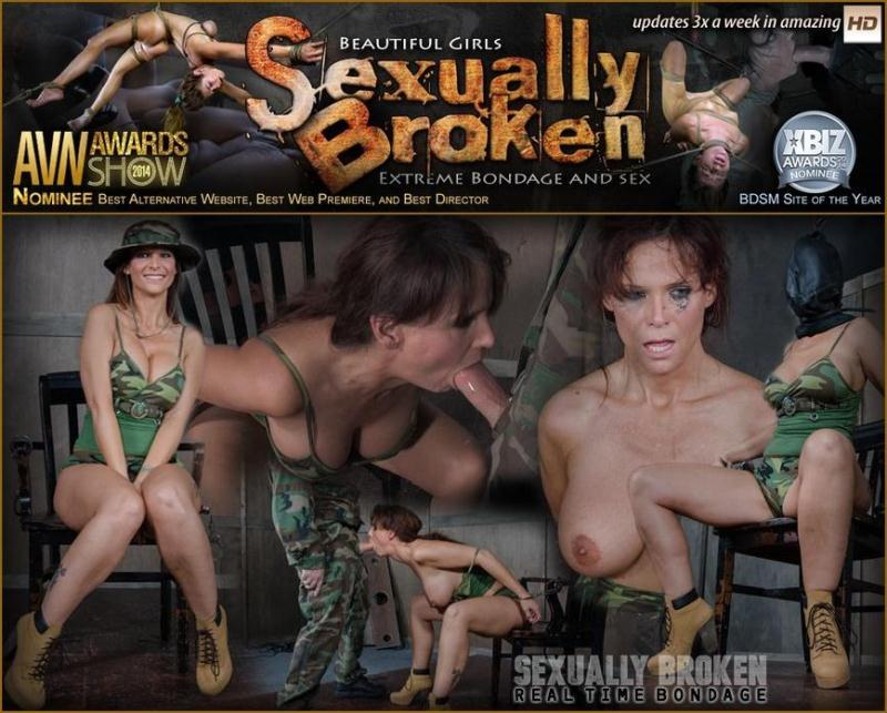 SexuallyBroken.com: Sierra Cirque, Matt Williams, Sergeant Miles - Part ONE of October's Halloween live show! Syren De Mer gets fucked up! Brutal fucking! [HD] (897 MB)