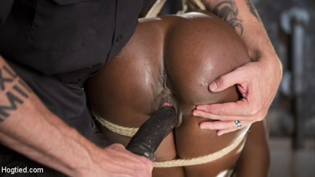 Stunning Ebony Slut in Brutal Bondage and Tormented - Ana Foxxx, The Pope - HogTied.com