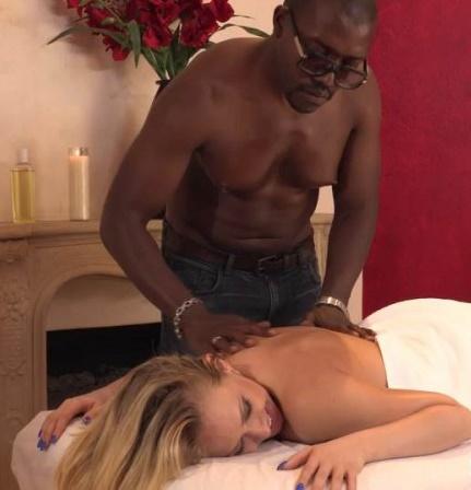 SheWillSheat: Kagney Linn Karter - Hotwife Kagney Linn Karters Interracial Massage  [SD 540p]