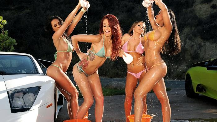 PornstarsLikeItBig: Rachel Starr, Madison Ivy, Monique Alexander, Kirsten Price - Your Car Will Be Washed Whores [SD 480p]