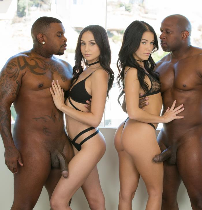 Blacked: Ariana Marie, Megan Rain - Stepsisters Share Everything  [HD 720p]  (Interracial)
