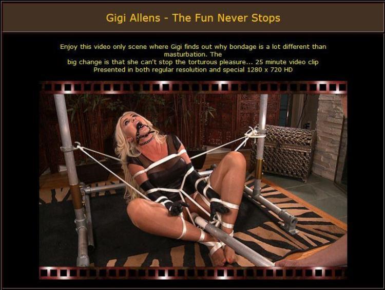 Gigi Allens - The Fun Never Stops - E0919 [BondageCafe / ]