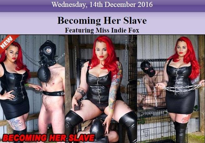 Mistress Indie Fox - My Worthless Footslave / 18 Dec 2016 [TheEnglishMansion / HD]