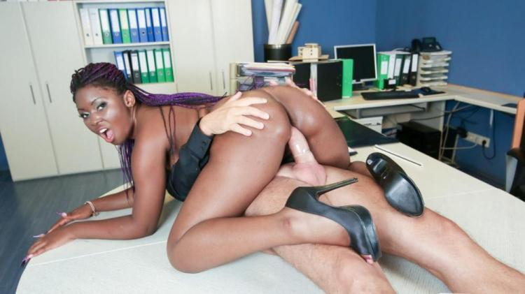 Sunny Star - German older boss fucks his ebony secretary in office sex fantasy / 12 Dec 2016 [PornDoePremium / SD]