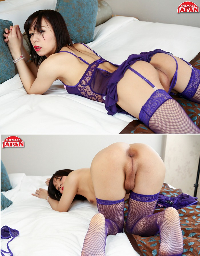 Mayumi Harukaze - Mayumi in Purple [HD 720p] Shemalejapan.com