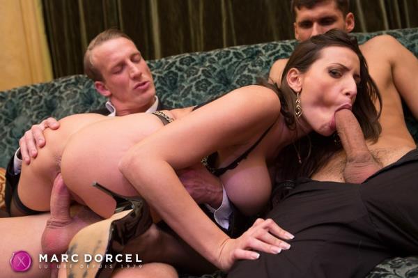 Sensual Jane - Sensual, the big tits milf gets fucked by 2 men (2016/2160p)