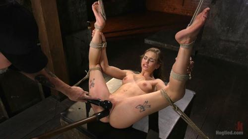 Sydney Cole - Hot Petite Blonde Surrender to Devastating Bondage and Torment [HD, 720p] [Hogtied.com / Kink.com]