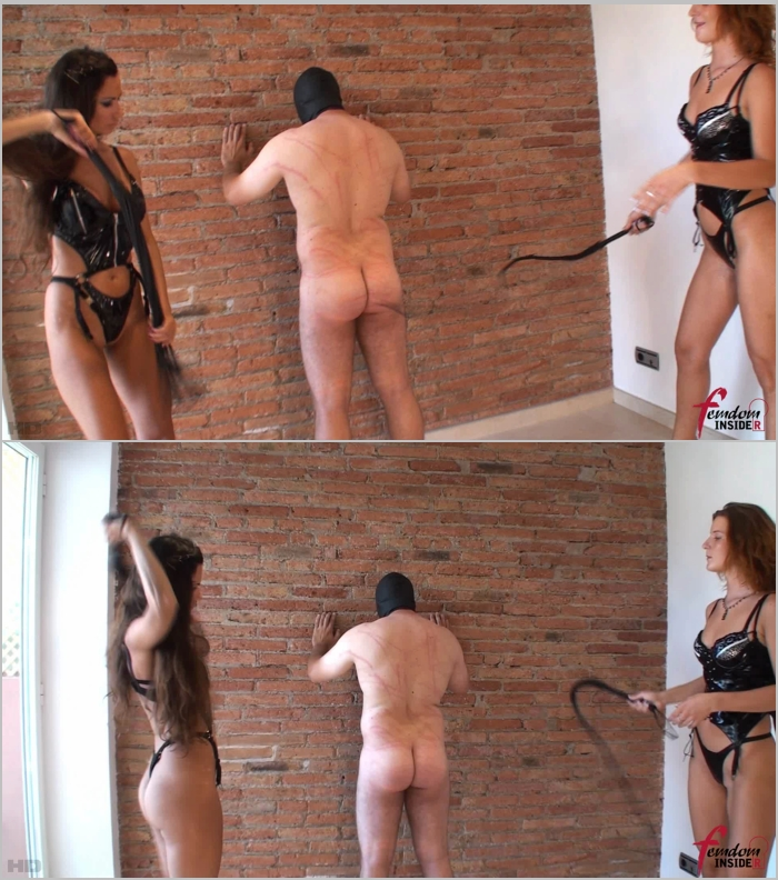 FemdomInsider: Mistress Marta and Mistress Nataly - Latex Mistresses Double Whipping  [FullHD 1080]  (Femdom)